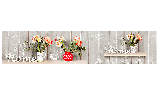 Кухонный фартук-039 Домашние цветы