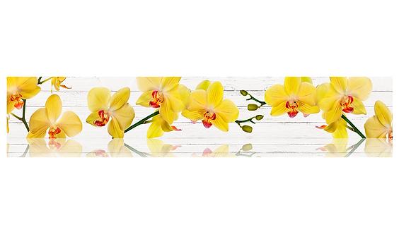 Кухонный фартук-016 Желтые орхидеи