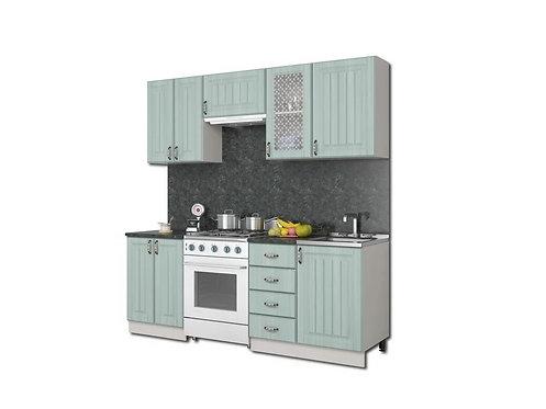 Модульная кухня Прованс МДФ ясень зеленый
