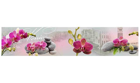 Кухонный фартук-041 Экзотический цветок