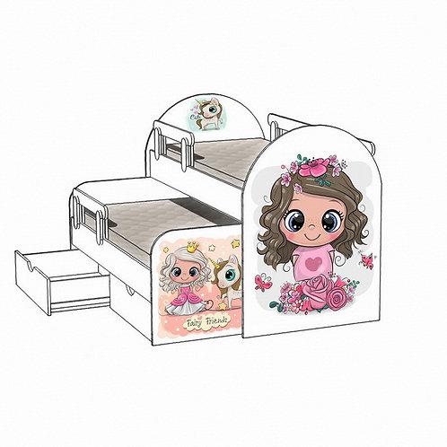 Детская выкатная кровать Фея и друзья