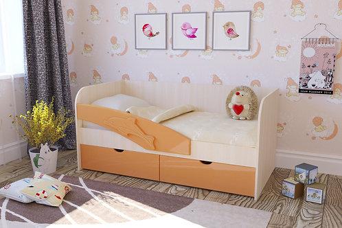 Детская кровать Дельфин-2 МДФ 1600/1800 мм