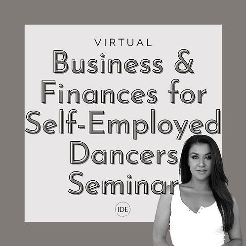 Virtual Business & Finances for Self-Employed Dancers Seminar