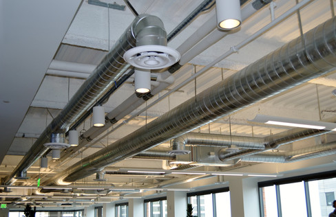 Ceiling duct and vents