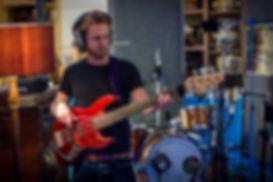 Recording bass guitar for Ward Thomas