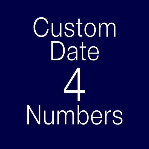 Custom Order Book Folding Date 4 digits (Pattern)