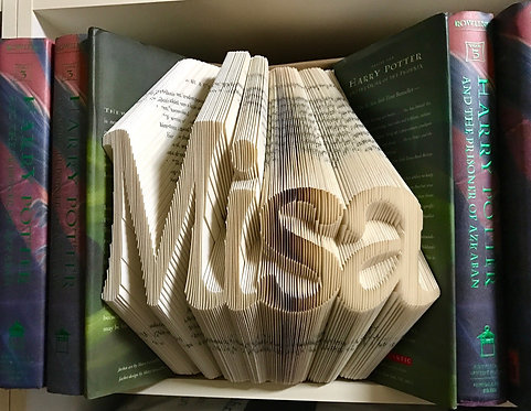 Custom Order Book Folding Word/Name (Finished Book)