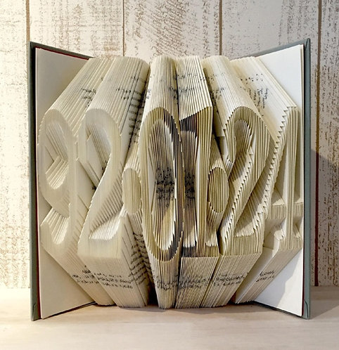 Custom Order Book Folding Anniversary 6 digits (Finished Book)