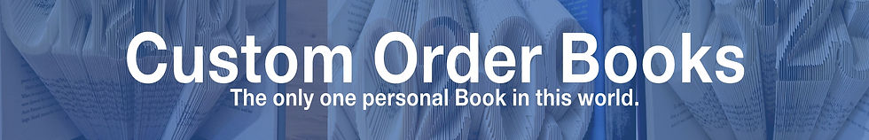 custom order books. the only one personal book in this world