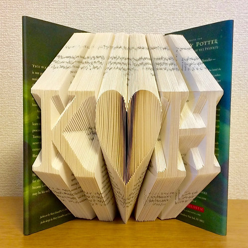 Custom Order Book Folding Initials (Finished Book)