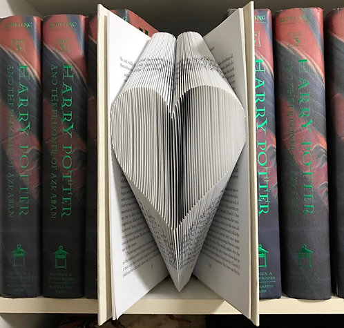 Book Folding Heart (Finished Book)