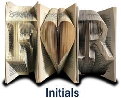 OruFun custom order initials f heart