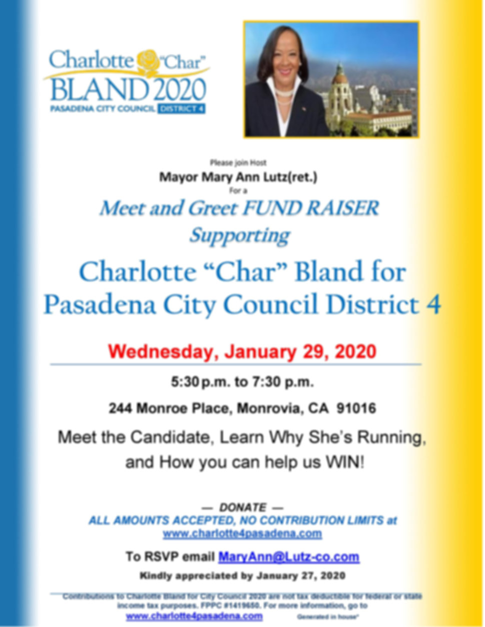 Char Bland meet and greet MA Lutz 1.29.2