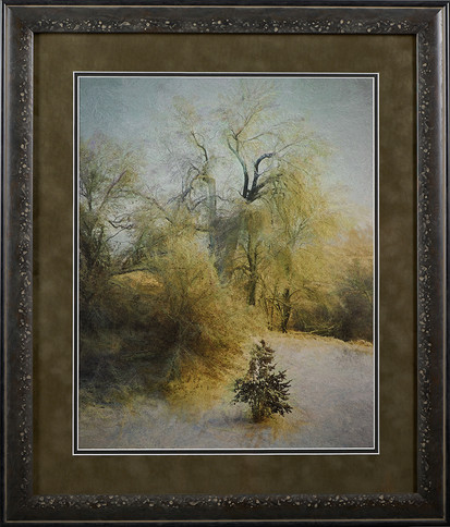 Blissful Winter ,Fine Art Archival substrate. Matted, Framed, and with Glass .jpg