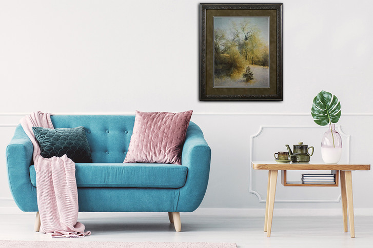 Blissful Winter -Fine Art Archival Substrate,Matted,Framed and Glass.jpg