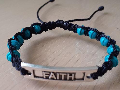 Decade Faith Bracelet with blue beads