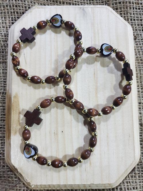 Guadalupe Heart Rosary Bracelet