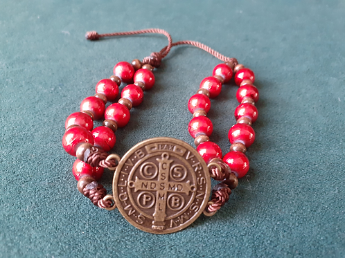 Saint Benedictine Red Bracelet