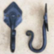 Diamond plate forged wall Hook