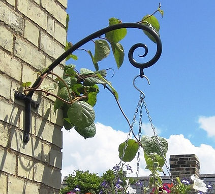 Hanging basket brackets
