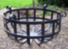 shallow fire brazier
