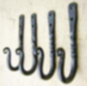 Rustic wall hooks handforged