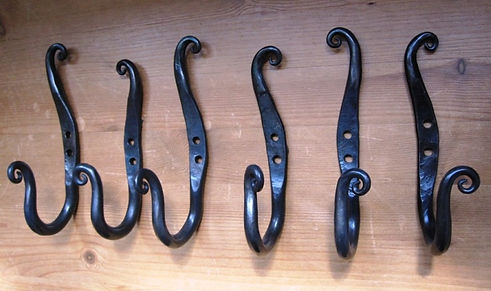 Organic handforged wall hooks