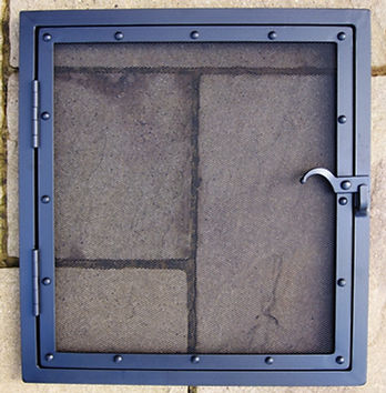Door fire screen / fire guard