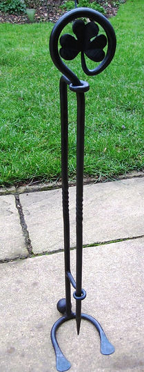shamrock fire poker and stand
