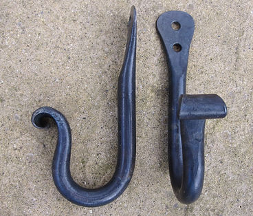 Flat nose forged wall hook