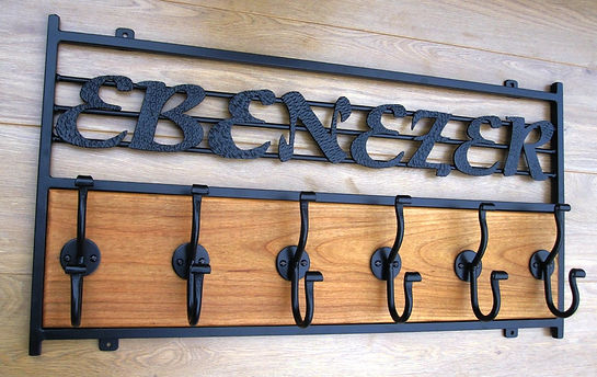 Custom Design Coat Hooks by john the blacksmith