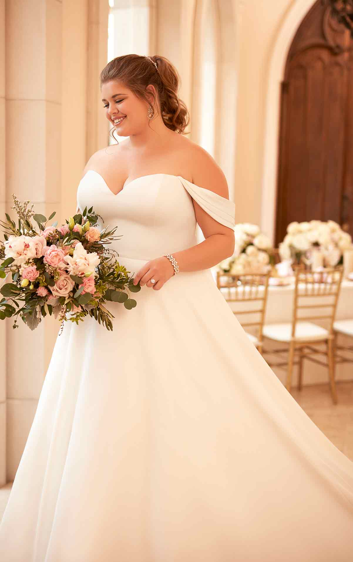 6718 plus size wedding dresses