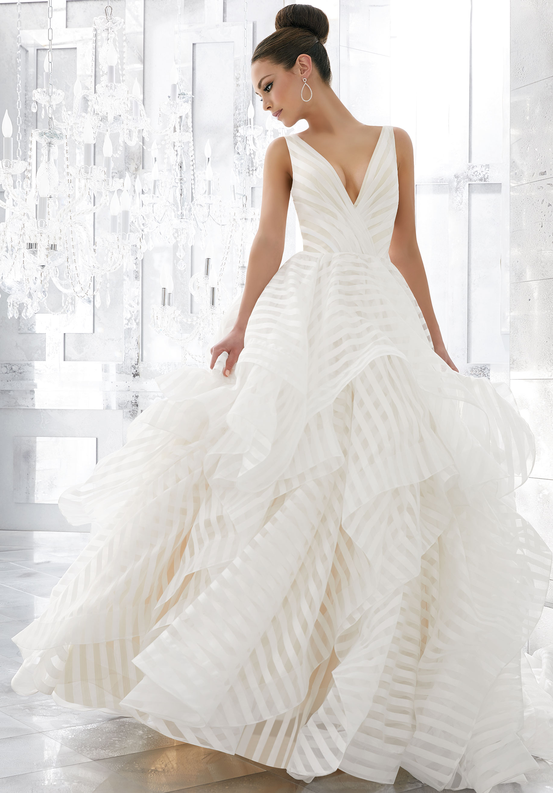 5577 Milly Stripe Mori Lee at Aurora