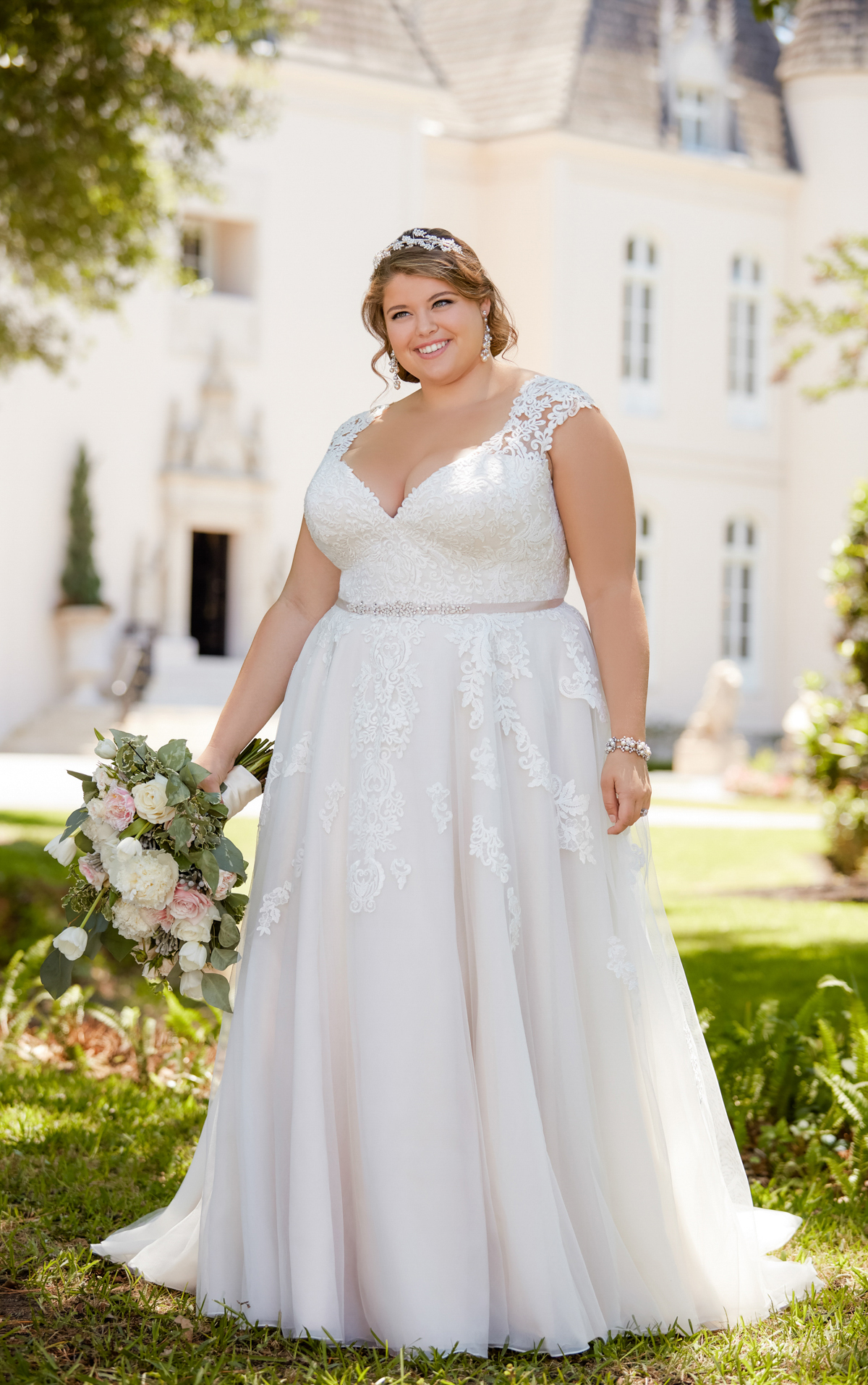6391 plus size wedding dresses