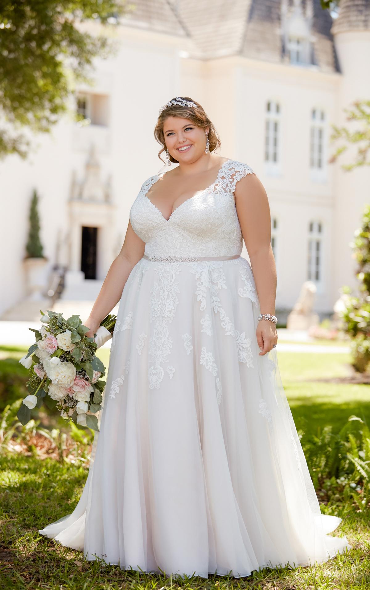 6391 plus size wedding dresses