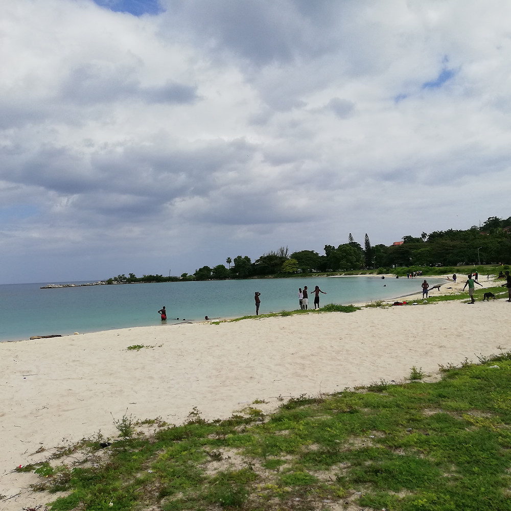 Locals enjoying the beach