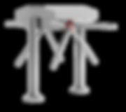 Motorisch angetriebene Doppeldrehsperre Dolomit Tandem, 2-Arm oder 3-Arm Variante, Gehäuse beschichtet oder aus Edelstahl