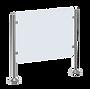 Geländer Design, mit Glasfüllung, Absperrung