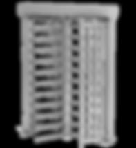 Motorisch angetriebene Doppeldrehsperre Compact, 2-Arm oder 3-Arm Variante, Gehäuse beschichet oder aus Edelstahl