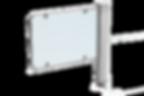 Motorisch angetriebene Doppeldrehsperre Compact Plus, mit Abweisbügeln, 2-Arm oder 3-Arm Variante, Gehäuse beschichet oder aus Edelstahl