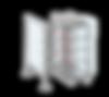 Motorisch angetriebenes Einzel- oder Doppeldrehkreuz VARIO, Höhe 1100 oder 1300 mm, Gehäuse aus Edelstahl, Personenvereinzelung, Drehsperren, Drehkreuze, Zugangskontrolle für Schwimmbäder, Toiletten, Freizeiteinrichtungen, Gewerbe, Stadion, Industrie, Werkschutz