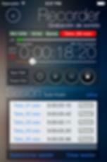Captura de pantalla de la grabadora de reSonare
