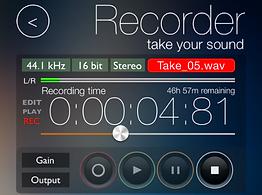 Screenshot of the recorder module of reSonare
