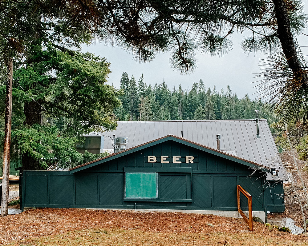 The boathouse at Suttle Lodge and boathouse on Suttle Lake in Sisters, Oregon