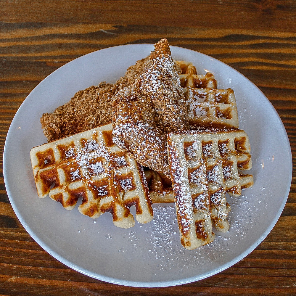 Fried chicken and waffles wild oregon foods