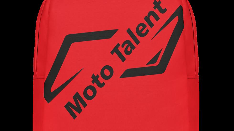 Zaino Top Rosso | Logo Moto Talent nero