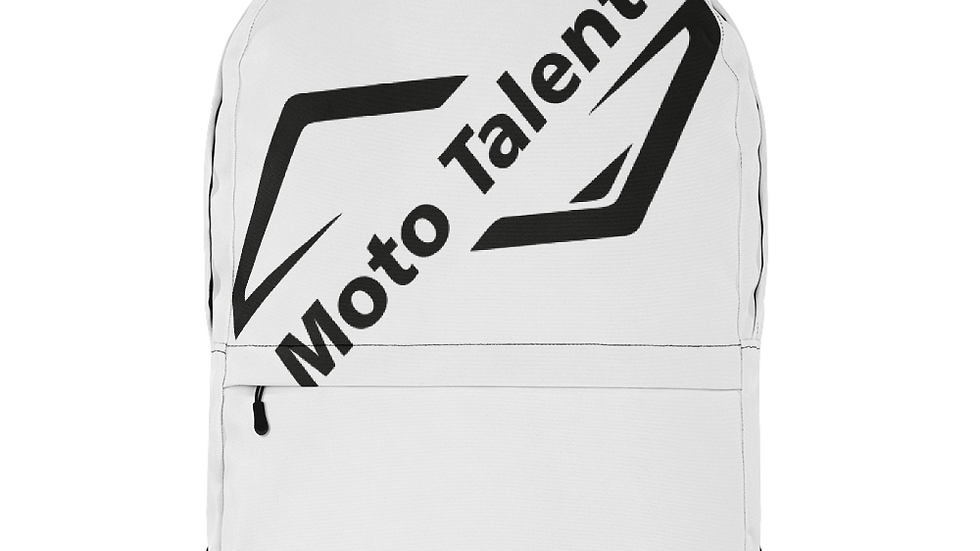 Zaino Top Bianco | Logo Moto Talent Nero