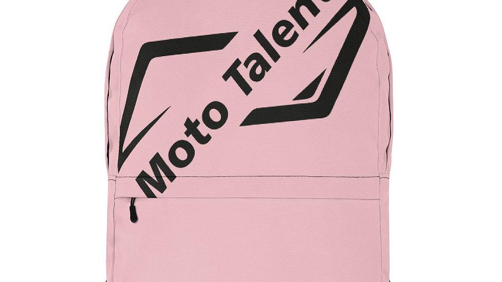 Zaino Top Rosa | Logo Moto Talent Nero