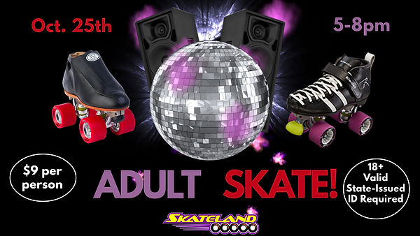 October Adult Skate - Made with PosterMy