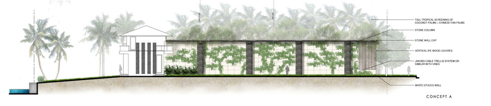 Privacy Wall Concept + Elevation